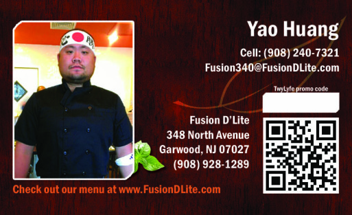 fusion dlite business card